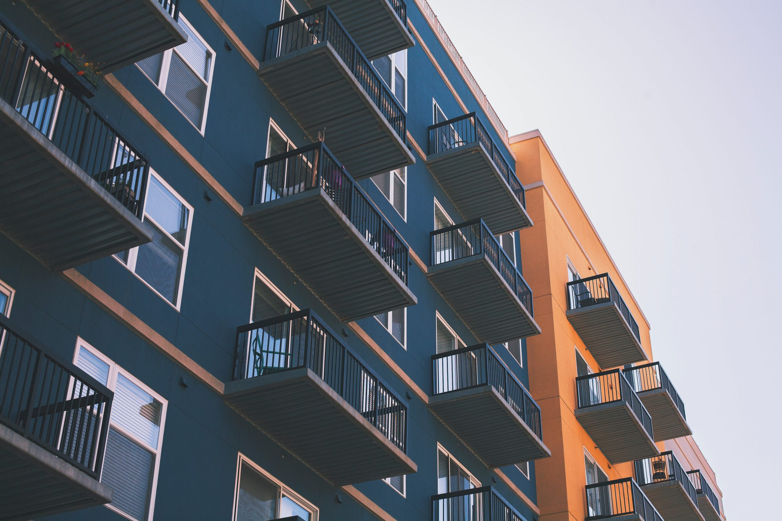 Side of a building with balconies
